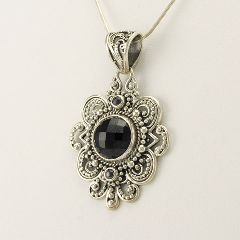 Sarda Pendant with Black Spinel