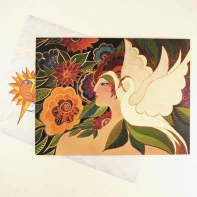 Swan Goddess Birthday Card