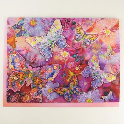 Butterfly Flower Land Birthday Card