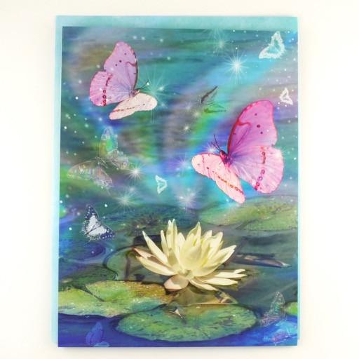 Lotus and Butterflies Sympathy Card