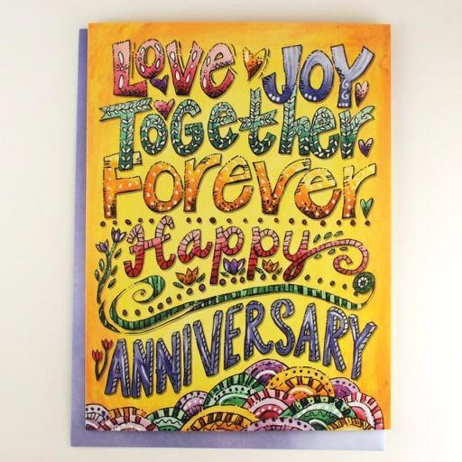 Love Joy Together.. Anniversary Card