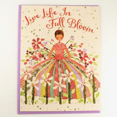 Live Life in Full Bloom Birthday Card