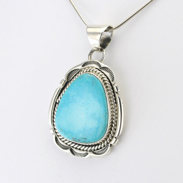 Sterling Silver Kingman Turquoise Pendant