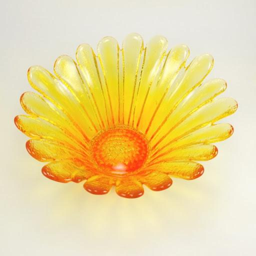Blenko Glass Large Sunflower Bowl