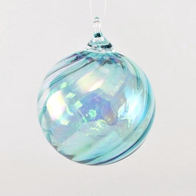 Glass Eye Classic Ornament Aqua Twist