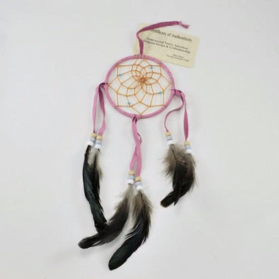 "4"" Navajo Pink Dream Catcher"