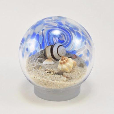 "Glass Eye 3.5"" Small Sea Globe Blue"