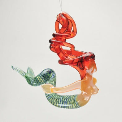 Glass Red Head Mermaid Ornament
