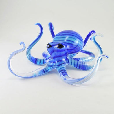 Small Blue Turquoise Glass Octopus