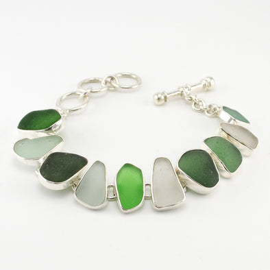 Curacao Beach Glass Toggle Bracelet