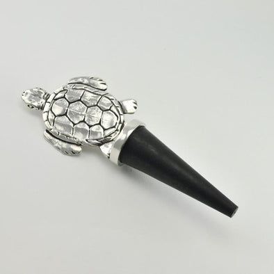 Pewter Sea Turtle Bottle Stopper