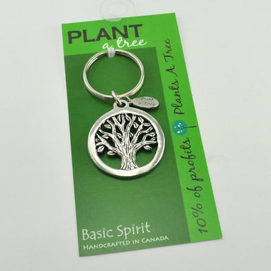 Pewter Tree of Life Key Ring