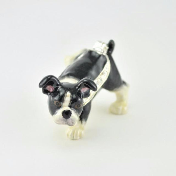 Misty Boston Terrier Enamel Miniature Box