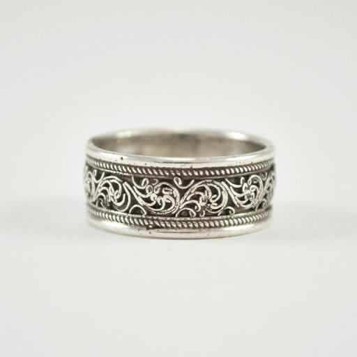 Sterling Silver Filigree Band Ring Size 10