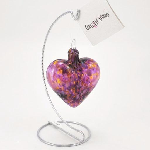 Glass Eye Heart Ornament Iris