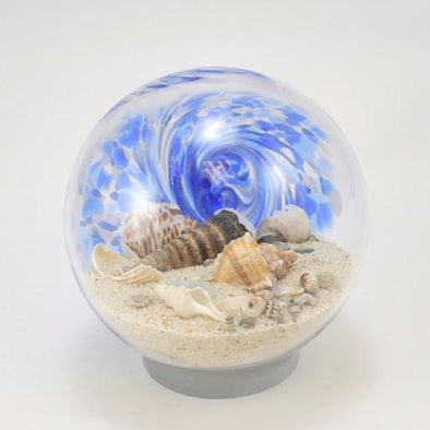 "Glass Eye 6"" Large Sea Globe Blue"
