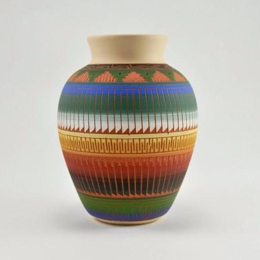 Rick and Mary Etsitty Navajo Pottery Vase