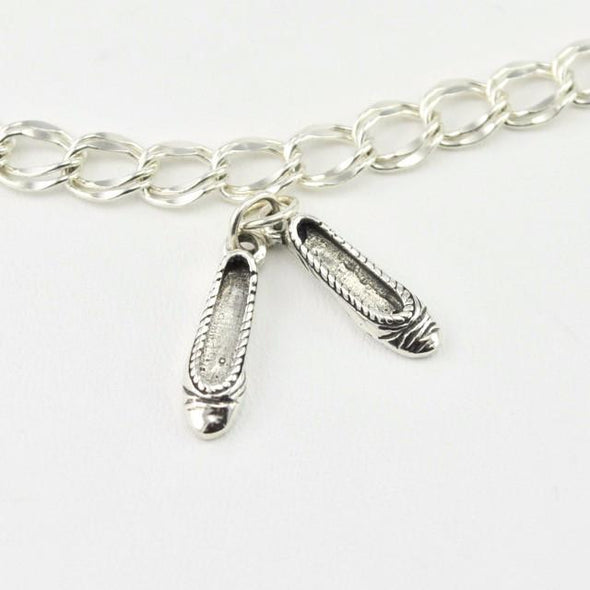 Sterling Silver Ballet Slippers Charm