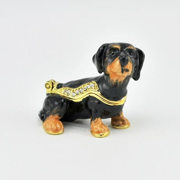 Dolly Dachshund Miniature Enamel Box
