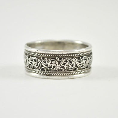 Sterling Silver Handmade Filigree Band Size 6