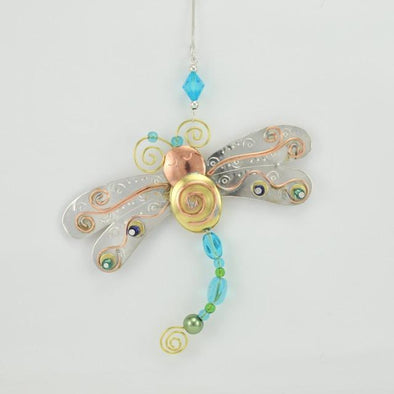 Sky Blue Flyer Dragonfly Ornament