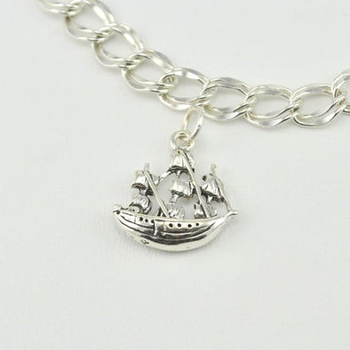Sterling Silver Jamestown Ship Charm