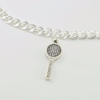Sterling Silver Tennis Racket Charm