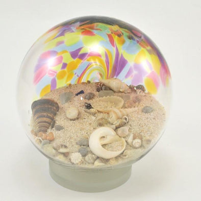Large Glass Sea Globe Rainbow