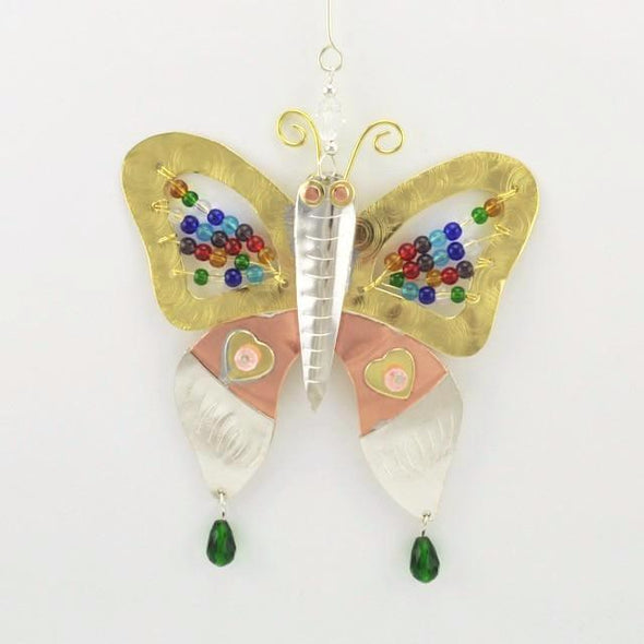 Mosaic Butterfly Ornament