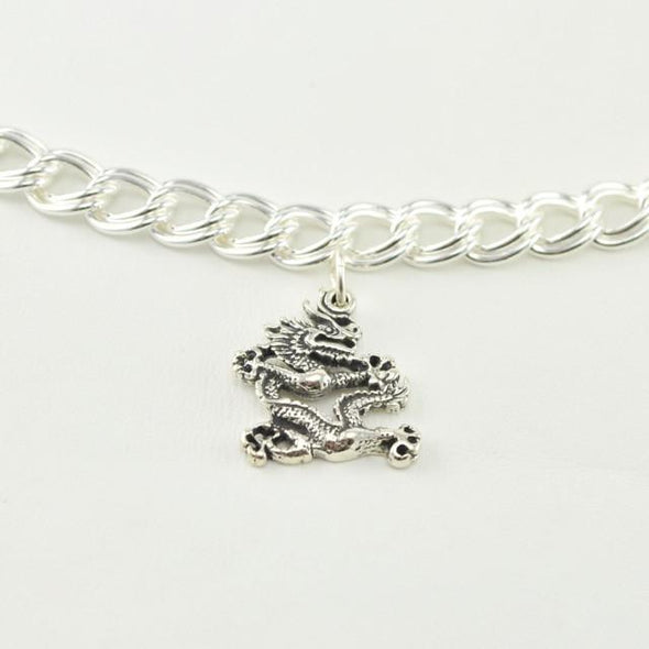 Sterling Silver Dragon Charm