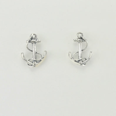 Sterling Silver Anchor Post Earrings