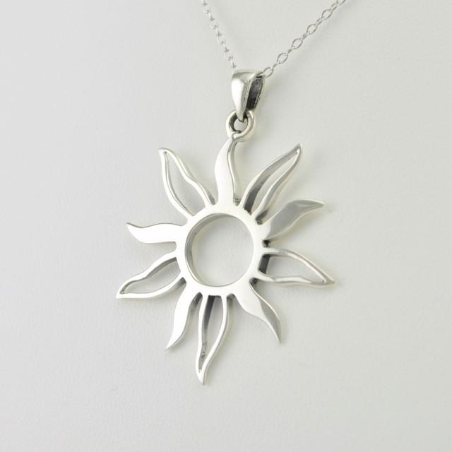 Sterling silver sun necklace mozeypictures Images