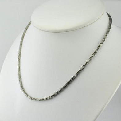 Sterling Silver 18 Inch 3mm Handwoven Snake Chain from Bali