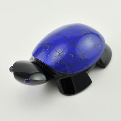 Lapis and Obsidian Turtle