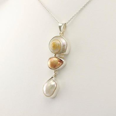 Sterling Silver Malabar Shell and Pearl Pendant