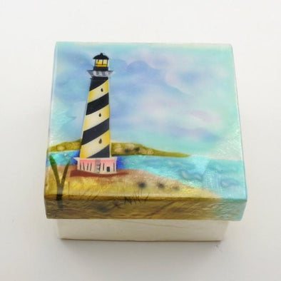 Lighthouse Capiz Box