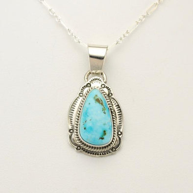 Sterling Silver Turquoise Mountain Pendant