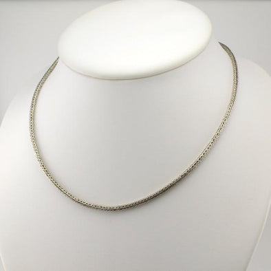 Sterling Silver 16 Inch Handwoven Snake with Extender