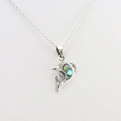 Sterling Silver Abalone Dolphin Necklace