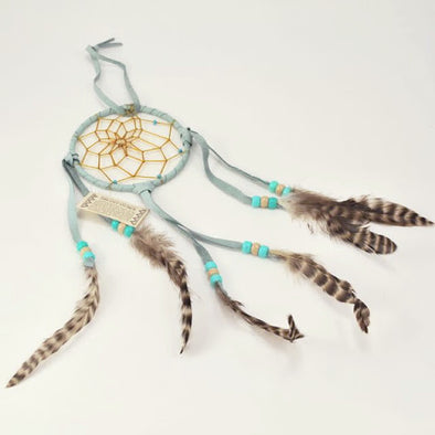 "Navajo 4"" Dreamcatcher Light Blue"