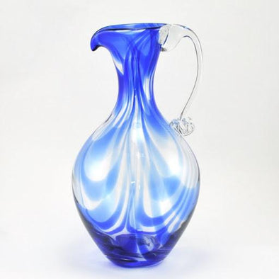 Pitcher Cobalt Swirls by Blenko Glass
