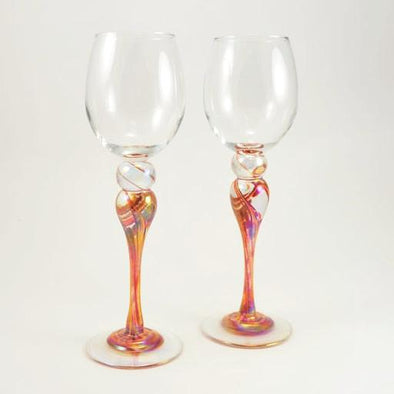 Pair of Hot Mix Wine Glasses