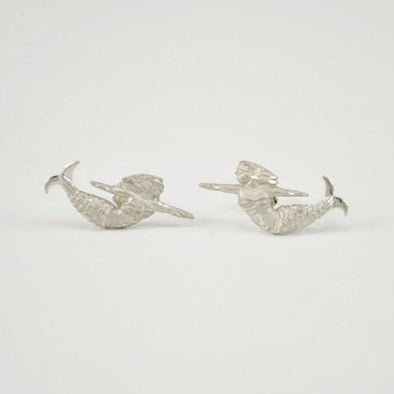 Sterling Silver Norfolk Mermaid Post Earrings