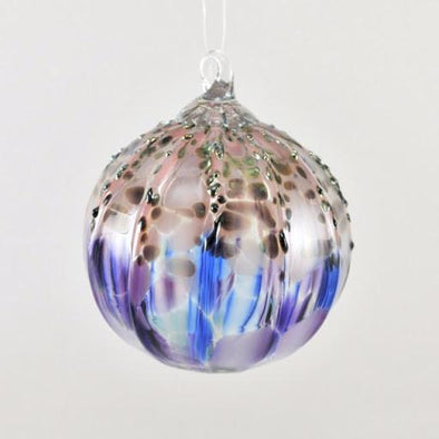Glass Eye Classic Ornament Purple Sprinkle