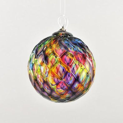 Glass Eye Classic Ornament Rainbow Diamond Facet