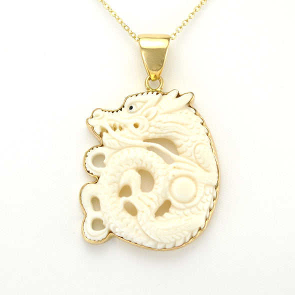 Alchemía Carved Dragon Pendant