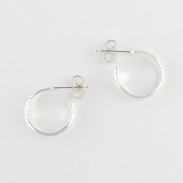 Sterling Silver 2x12mm Post Hoop