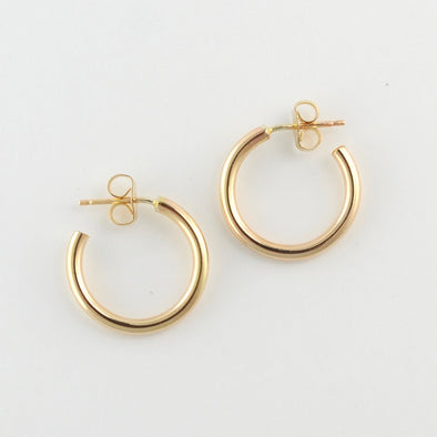 Gold Fill Large Heavy Circle Post Hoop