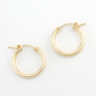 Gold Fill 15mm Hinged Hoop Earring