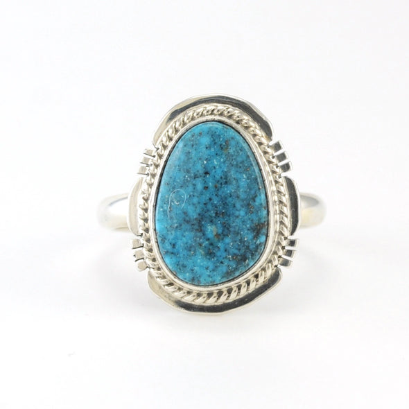 Sterling Silver Kingman Turquoise Ring Size 9